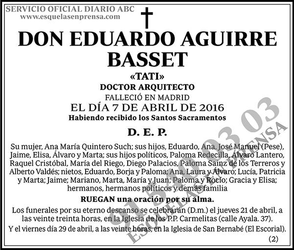 Eduardo Aguirre Basset